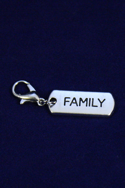 """Family"" Silver Jewelry Charm-Jewelry Charm-Destination Oils"