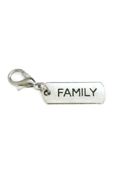 Family Silver Jewelry Charm-Jewelry Charm-Destination Oils