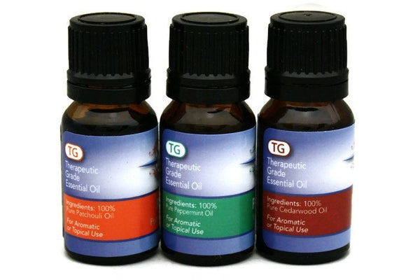 Attention Improving Essential Oil Set- Cedarwood, Patchouli, Peppermint-Gift Sets-Destination Oils