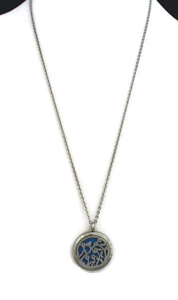 "Diffuser Necklace - ""Bouquet"" Flower 316L Stainless Steel Essential Oil Diffuser Necklace-24"""