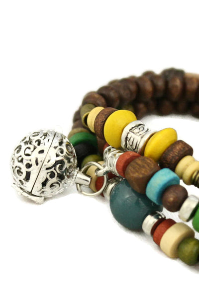 "Diffuser Bracelet - ""Global"" Triple Wrap Essential Oil Diffuser Bracelet/ Necklace"