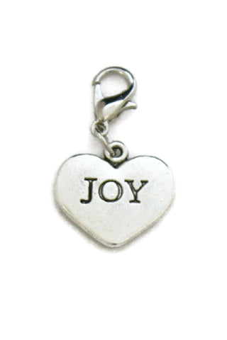 Joy Silver Heart Jewelry Charm-Jewelry Charm-Destination Oils