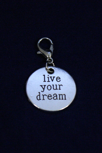 Live Your Dream Silver Jewelry Charm-Jewelry Charm-Destination Oils