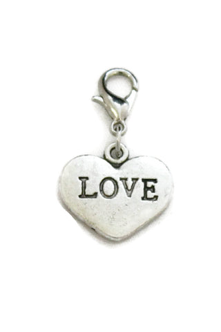 Love Silver Heart Jewelry Charm-Jewelry Charm-Destination Oils