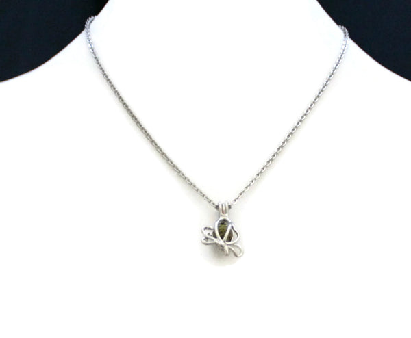 "Butterfly Girls Essential Oil Diffuser Necklace- 16"" Stainless Chain-Diffuser Necklace-Destination Oils"