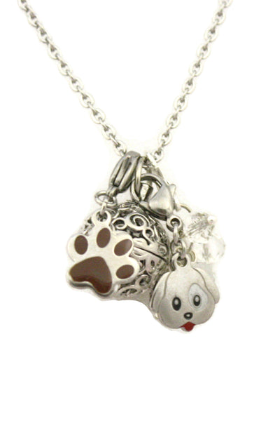 "Puppy Love Kids Dog Essential Oil Charm Necklace- 16""-Diffuser Necklace-Destination Oils"