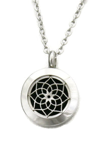 "Sacred Lotus 316L Stainless Steel Essential Oil Diffuser Necklace- 20mm- 20""-Diffuser Necklace-Destination Oils"