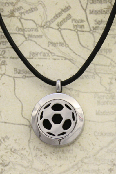 Quot Soccer Quot Stainless Steel Essential Oil Diffuser Necklace
