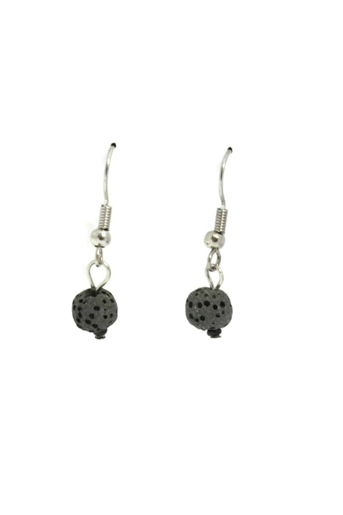"""Soul"" Single Lava Stone Essential Oil Diffuser Earrings Set-Diffuser Necklace-Destination Oils"