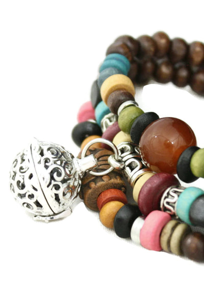"""Tribal"" Triple Wrap Essential Oil Diffuser Bracelet/ Necklace-Diffuser Bracelet-Destination Oils"