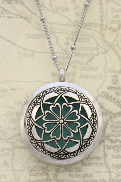 """Unique"" Twist Open 316L Stainless Steel Essential Oil Diffuser Necklace- 20""-Diffuser Necklace-Destination Oils"