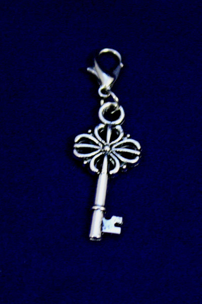 Vintage Key Silver Jewelry Charm-Jewelry Charm-Destination Oils