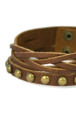 """Weave"" Leather Cuff Essential Oil Bracelet- Unisex-Diffuser Bracelet-Destination Oils"