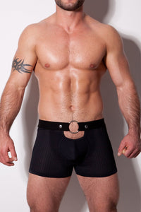 Diversity Black Shorts with Ring and Stripes