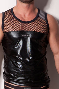Tank Top Black with Mesh