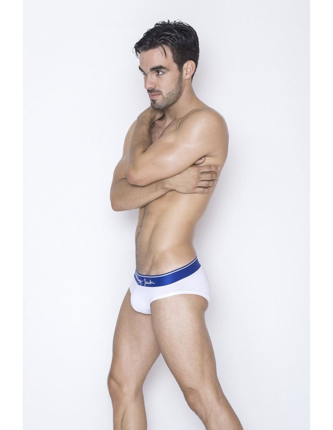 Core Briefs - White with blue - G UNDIE