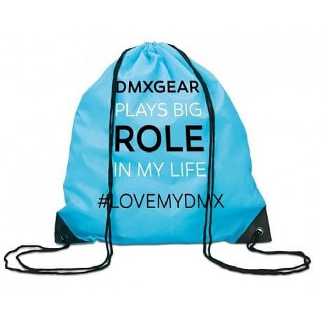 DMXGEAR DRAWSTRING BACKPACK TURQUOISE COLORED DMXGEAR PLAYS BIG ROLE IN MY LIFE - G UNDIE