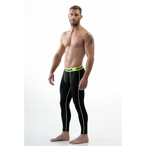 DMXGEAR ELASTIC PANTS MEN'S BLACK COMPRESSION PRO COMBAT TIGHTS PURE - G UNDIE