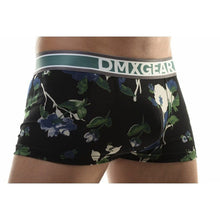 DMXGEAR LUXURY BLACK-BLUE MEN'S BOXER BRIEF WITH SHORT LEGS FLORA BOXER - G UNDIE