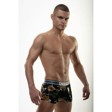 DMXGEAR LUXURY BLACK-ORANGE MEN'S BOXER BRIEF WITH SHORT LEGS FLORA BOXER - G UNDIE