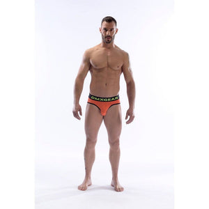 DMXGEAR LUXURY COTTON ORANGE MEN'S BRIEF ANATOMICALLY FIT BRIEF - G UNDIE