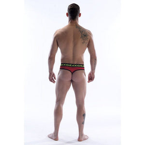 DMXGEAR LUXURY COTTON RED MEN'S THONG ANATOMICALLY FIT THONG - G UNDIE