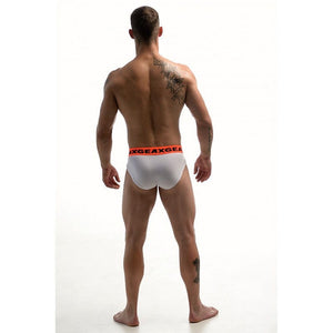 DMXGEAR LUXURY COTTON WHITE MEN'S BRIEF ANATOMICALLY FIT BRIEF - G UNDIE