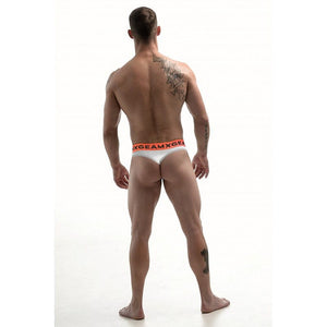 DMXGEAR LUXURY COTTON WHITE MEN'S THONG ANATOMICALLY FIT THONG - G UNDIE