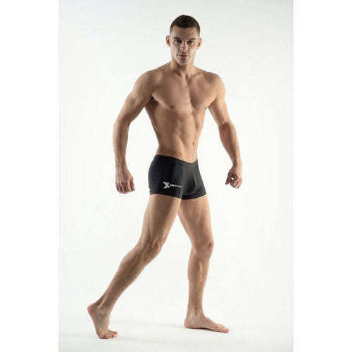 DMXGEAR MEN'S SWIM BOXER SHORTS BLACK SUN & FUN - G UNDIE