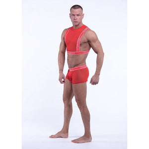 DMXGEAR RED MEN'S MESH TANK TOP SWEET MESH TANK TOP - G UNDIE