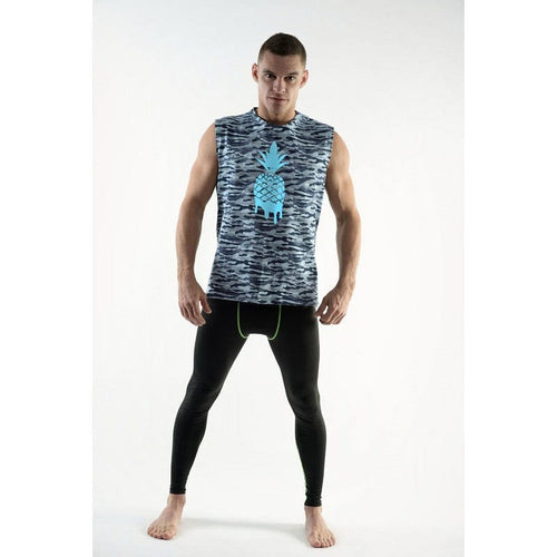 DMXGEAR SLEEVELESS T-SHIRT PINEAPPLE PURE SPORT ARMY BLUE - G UNDIE
