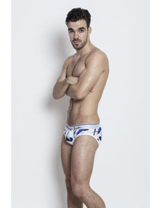 Graphic Briefs - Paint Print with white - G UNDIE
