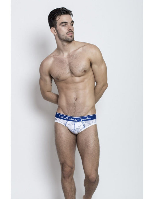 Graphic Briefs - Sea Print with blue - G UNDIE