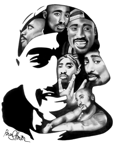 2Pac Legends Print / Canvas