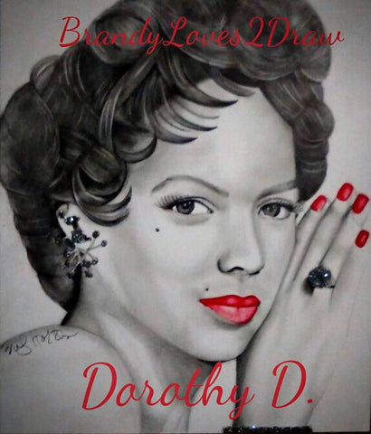 Dorothy Dandridge Red Lips Print / Canvas