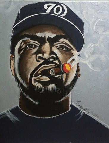 Ice Cube Smoking Cigar Original Artwork