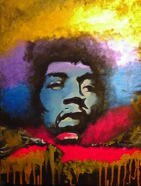 Jimi Hendrix 2 Original Artwork