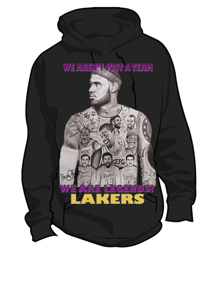 Lebron Lakers Hoodies (with wording)
