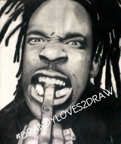BUSTA RHYMES Original Artwork