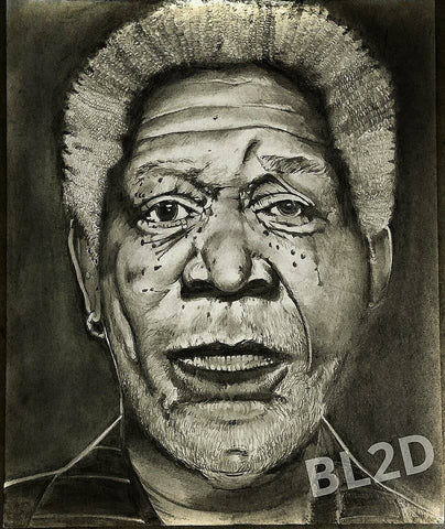 Morgan Freeman Original Artwork