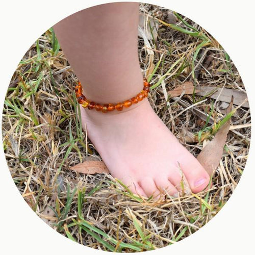 Baby Amber Bead Anklet