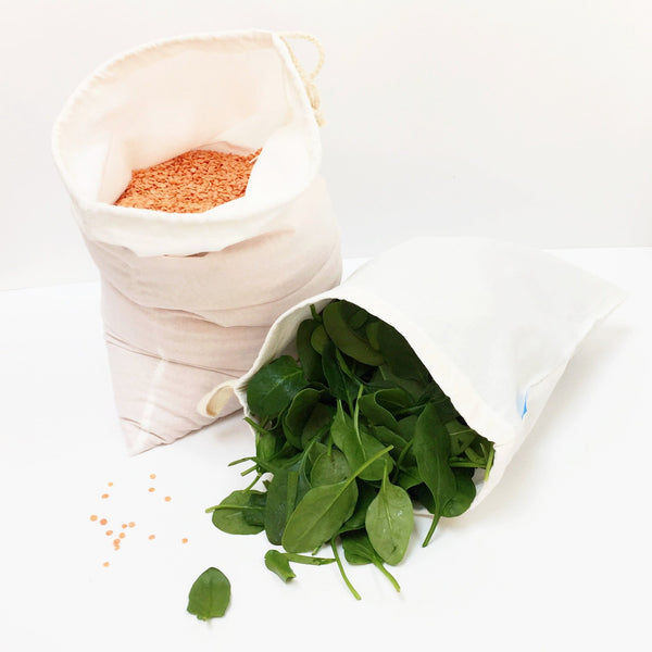 Organic Cotton Produce & Bread Bag - Pack 3