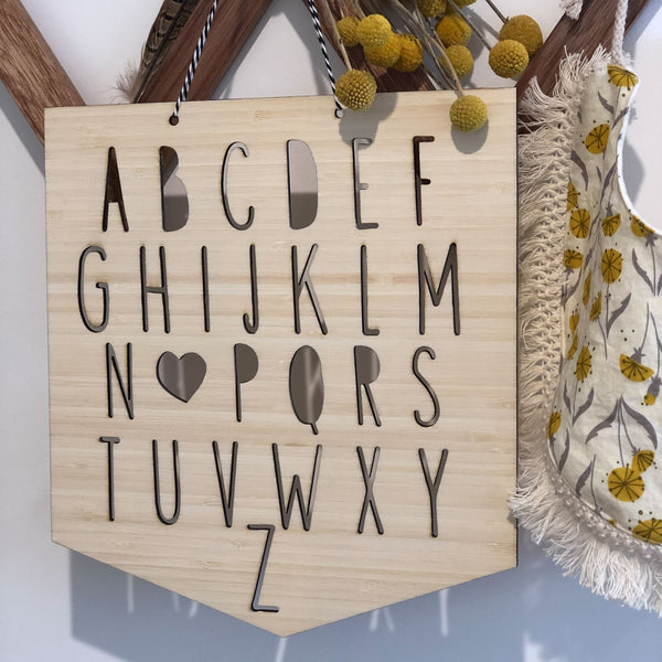 Wooden Alphabet Plaque