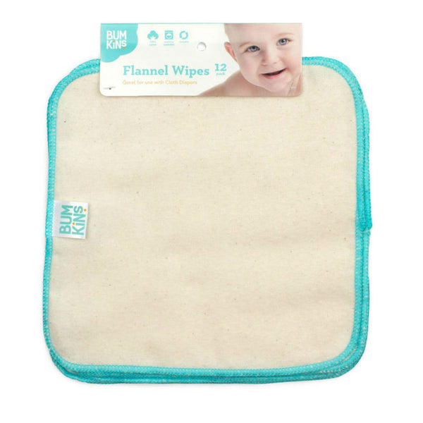 Reusable 100% Cotton Flannel Wipes