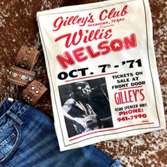 'Willie at Gilley's' Graphic Tee