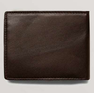Single Stone Leather Wallet - Brown Stone