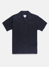 Linen Cuban Short Sleeve Shirt - Navy