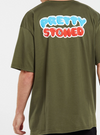 Pretty Stoned Short Sleeve Tee - Military