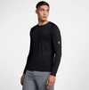 Quick-Dry Long Sleeve Rash Vest - Black