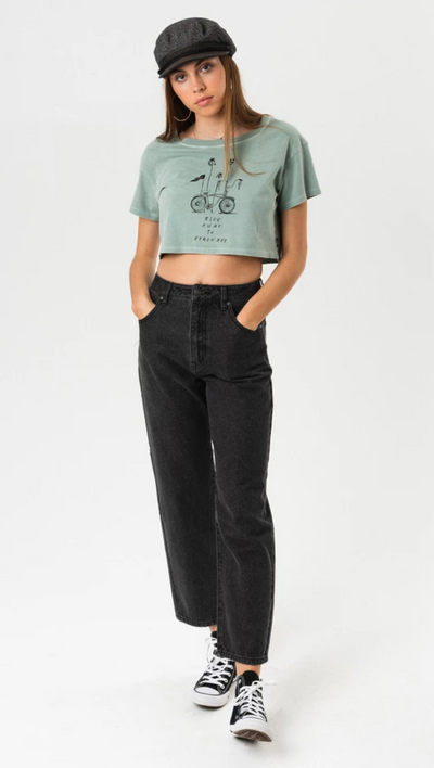 Ride Away - Wide Neck Cropped Tee